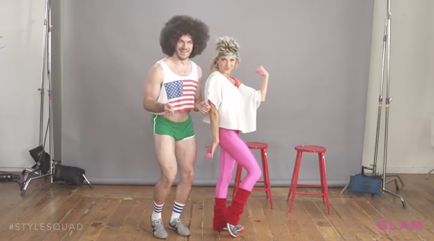 80s Workout Couple Costume