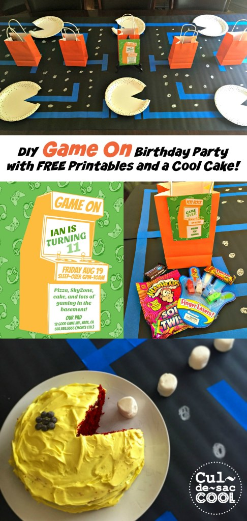 DIY Game On Birthday Party collage