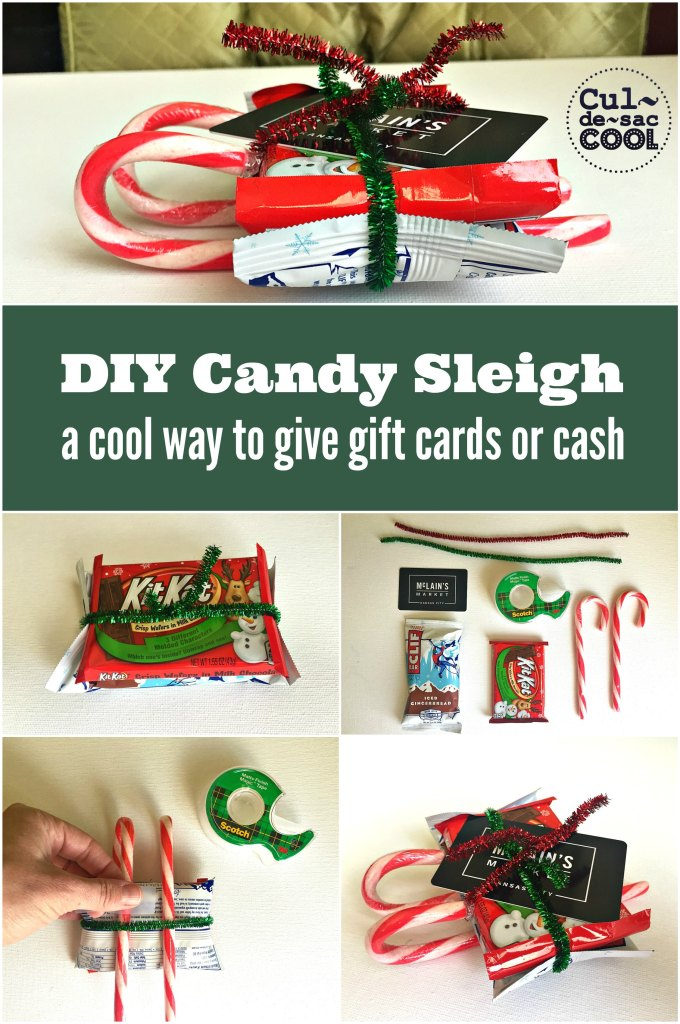 diy candy sleigh a cool way to give gift cards or cash. Black Bedroom Furniture Sets. Home Design Ideas