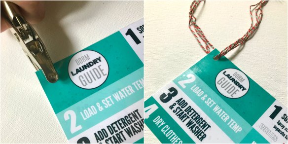 DIY Dorm Laundry Kit with Printable Laundry Guide |