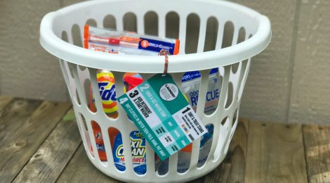 DIY Dorm Laundry Kit with Printable Laundry Guide