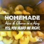 Homemade Mac Cheese In A Mug