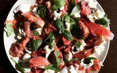 Salade met vijgen, Zeeuwse ham en mozzarella