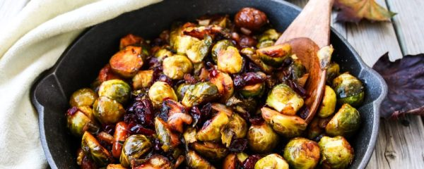 Maple Glazed Brussel Sprouts with Chestnuts