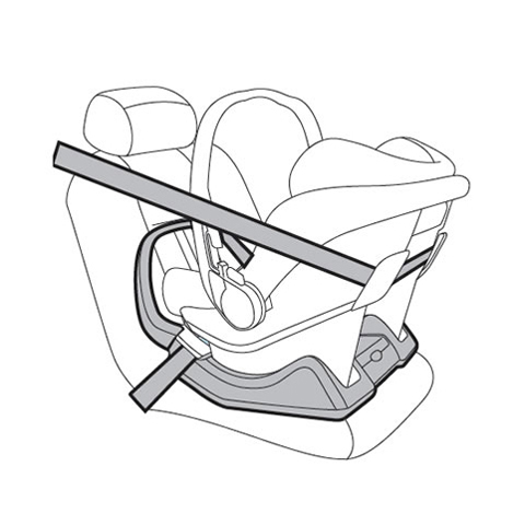 Adjustable Base for Primo Viaggio car seat Belted base