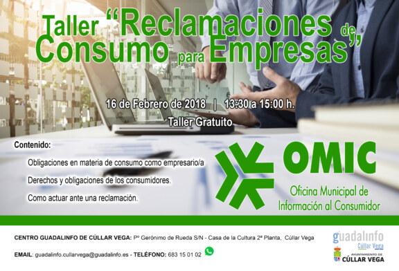 """Taller de """"Reclamaciones de Consumo"""" dirigido a Empresarios/as"""