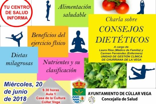 Charla sobre consejos dietéticos