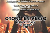 """VI Edición del Festival Joven """"Otoño en Verso"""" en la modalidad Talen Chou 2018"""