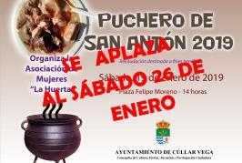 Se aplaza Puchero de San Antón