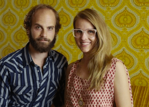 HUsband and wife hipsters.