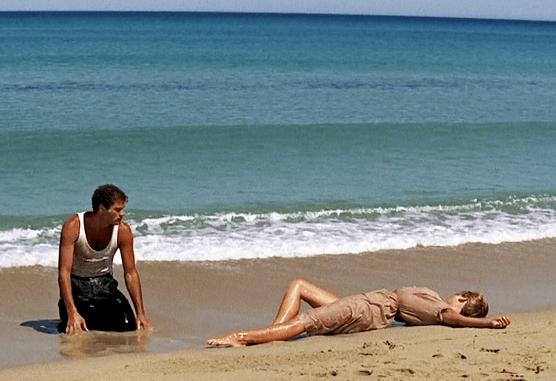 Beach temptress.