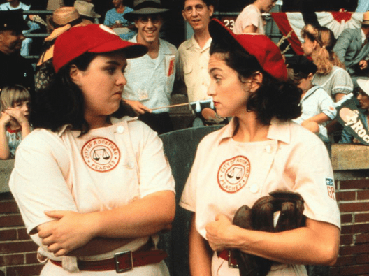 Madonna as tough-as-nails Mae Mordabito and best friend, Doris Murphy (O'Donnell)