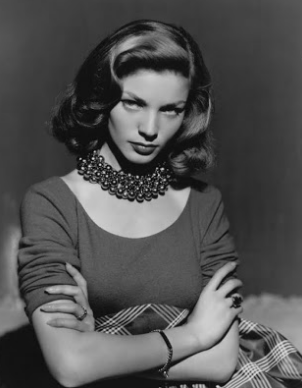 Bacall's signature expression