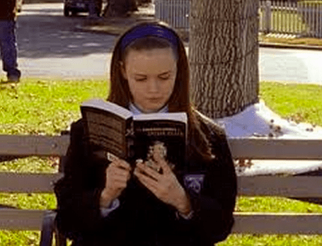 Always with her head in a book