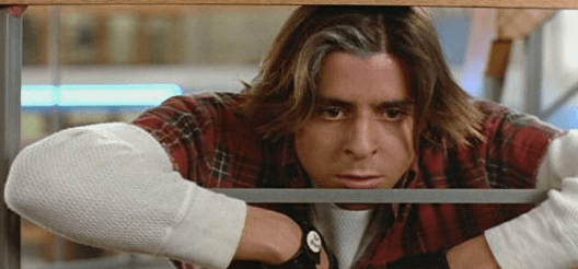 Judd Nelson in The Breakfast Club is the knee-clutching type, albeit undercover