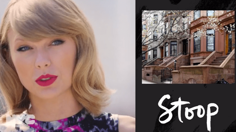 """""""Stoop"""" is, according to Swift, """"like a porch"""""""
