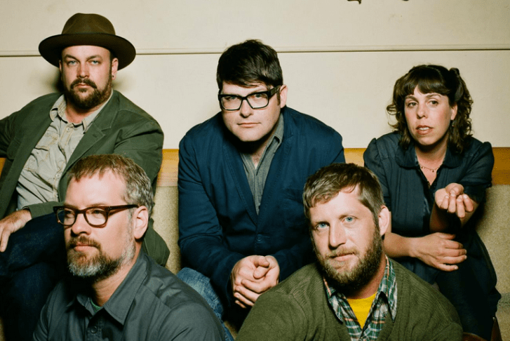 The height of The Decemberists' ability to look pleased about the news