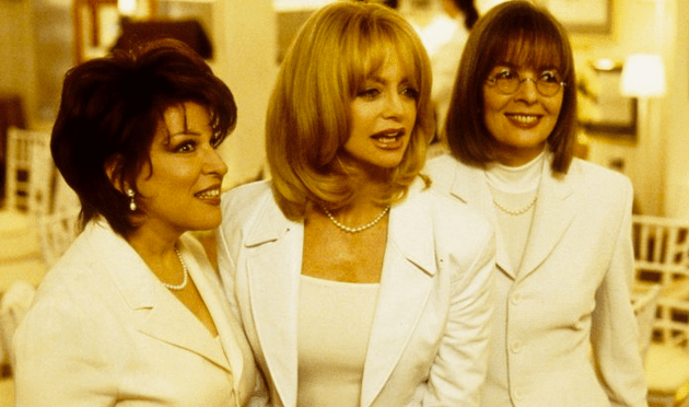 From left to right: Bette Midler as Brenda Morelli, Goldie Hawn as Elise Elliot and Diane Keaton as Annie MacDuggan