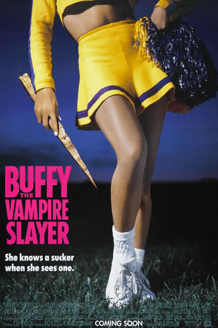 Suggestive promo poster for Buffy the Vampire Slayer