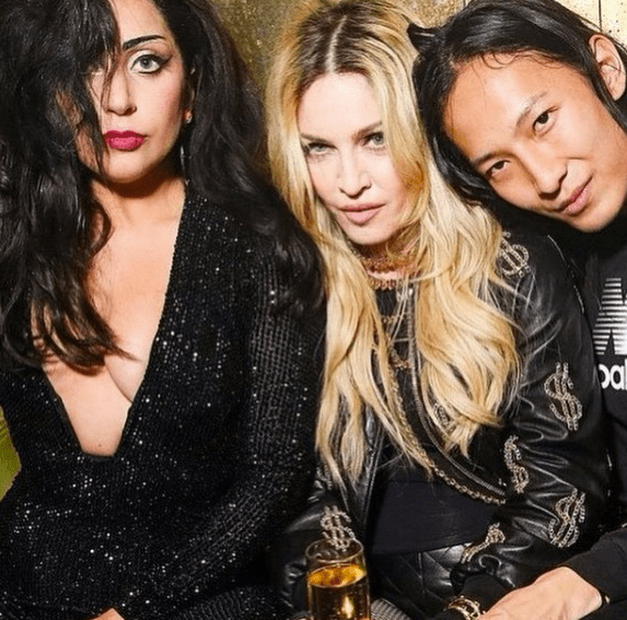 Madonna (center, of course), Lady Gaga (left) and Alexander Wang (right)