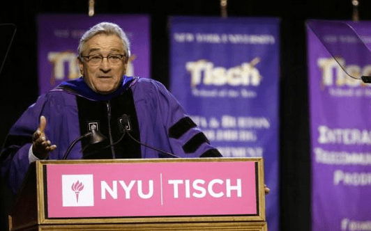 Robert DeNiro Sugar Coats Nothing For Tisch School Graduates