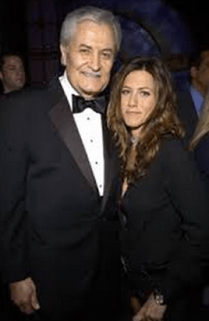 Jennifer Aniston and her soap dad, John