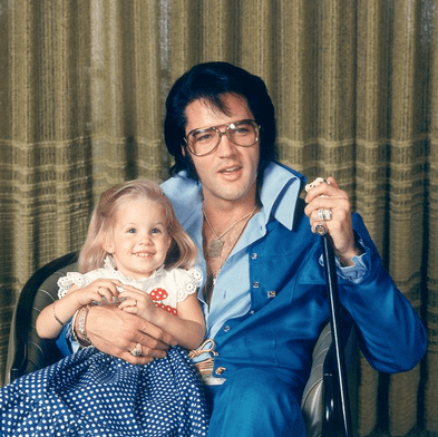 Lisa Marie and Elvis Presley