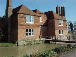 Badselle Manor and Moat in Brenchley, Kent; March 2000