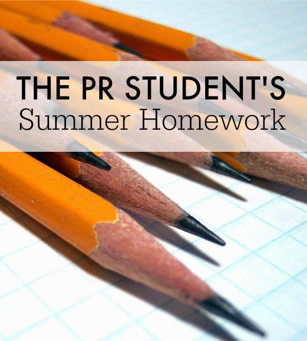 PR Students Summer Homework
