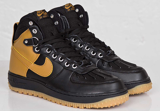 Nike Air Force 1 Duckboot Black/White/Metallic Silver   Cult Edge
