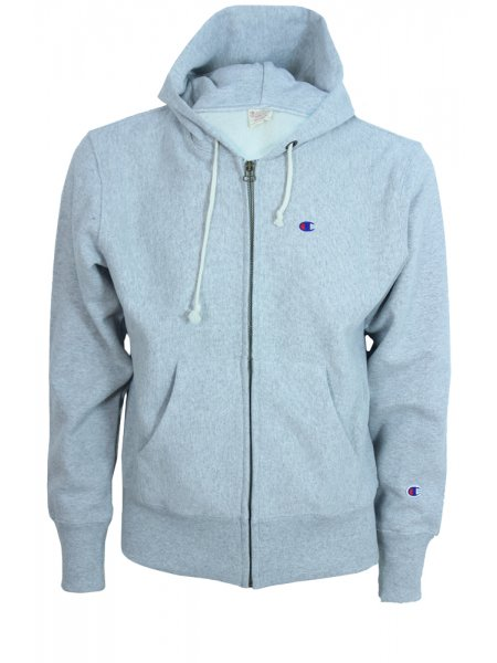 Champion Reverse Weave Zipthrough Hoody Grey