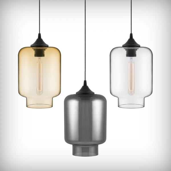 Edison Bulbs + Glass Pendant LightsCult Furniture Blog