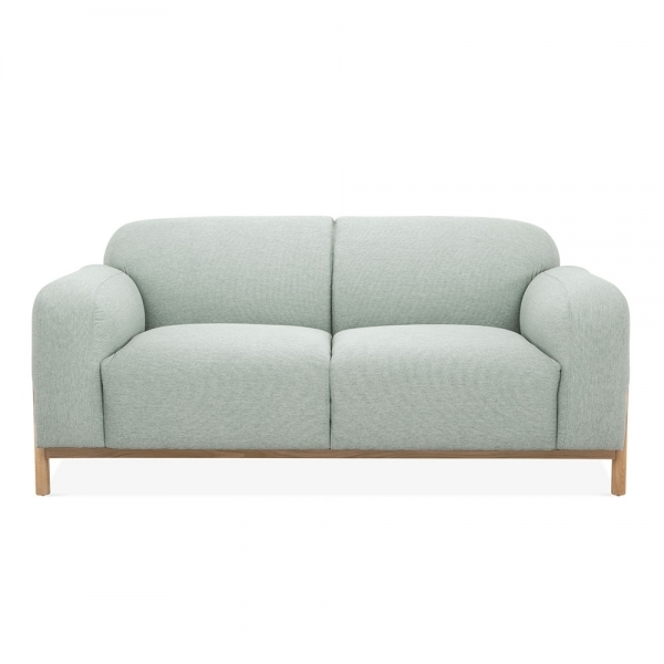 small 2 seater sofa shabby chic slipcovered soft teal fabric upholstered bergen modern sofas
