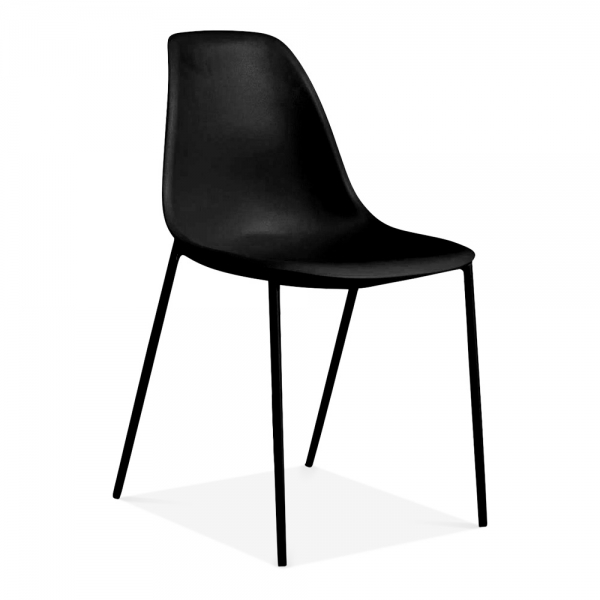 Black Plastic Bugsy Dining Chair Contemporary Dining Chairs