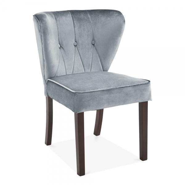 grey upholstered dining chairs uk indoor hammock light velvet chancery chair cult