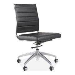 Armless Chair Uk Cover Hire Melton Mowbray Deluxe Black Office Eames Inspired Cult