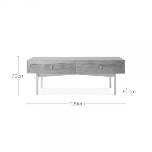 cult living hertha storage coffee table solid acacia wood brown