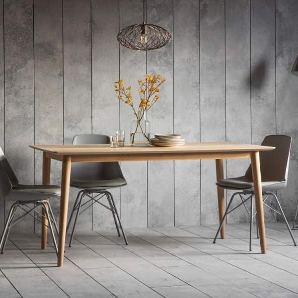 cult living lysia dining table solid oak wood natural 160cm