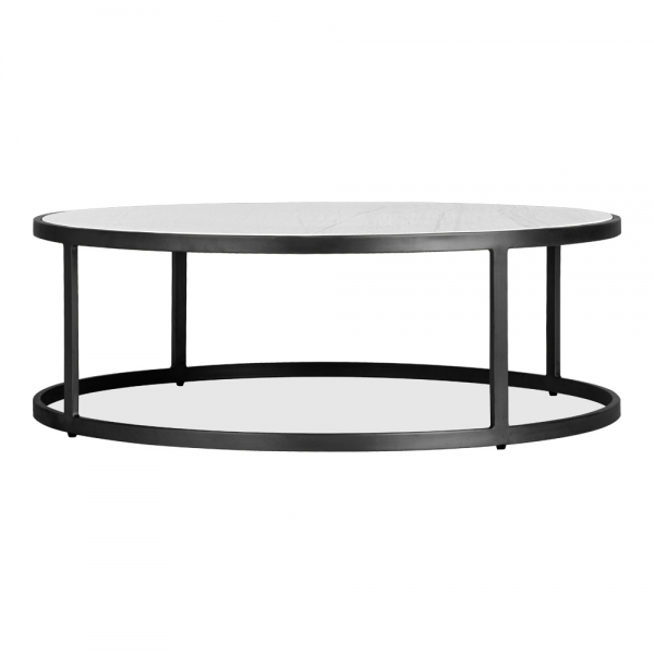 cult living madison round coffee table white marble top black clearance sale