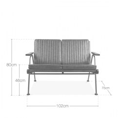 Sofa Seat Height 60cm Montauk Modern Sectional Grey Leather Upholstered Wickham Wooden 2 Seater Cult Uk Living Industrial Small Faux