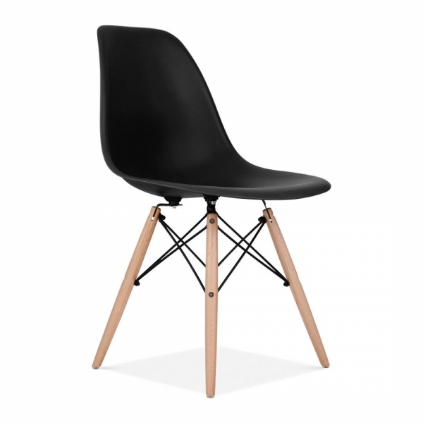 black eames chair folding design history chairs noahseclectic com style dsw side cafe cult furniture