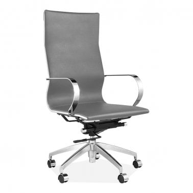 office chair uk vintage salon chairs modern executive cult forbes high back faux leather upholstered light grey