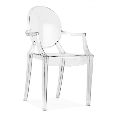 modern plastic chair most comfortable gaming chairs dining cult uk louis ghost armchair clear