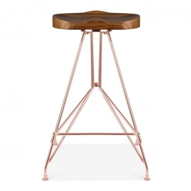 kitchen stool computer desk stools modern bar cult furniture moda metal cd1 solid ash wood seat copper 66cm