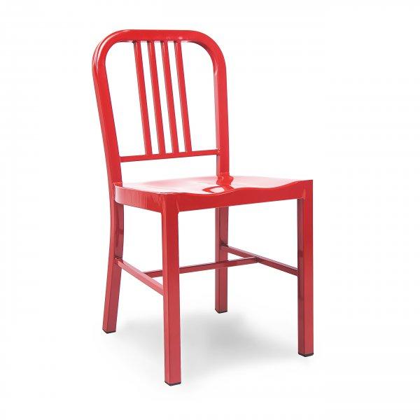 Red Metal Steel Dining Chair  Cult UK