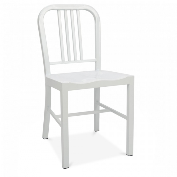 White Metal Dining Chair  Cult Furniture UK