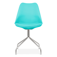 Eames Inspired Turquoise Dining Chairs with Metal Cross ...