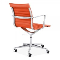 Cult Living Orange Ribbed Office Chair with Short Back ...