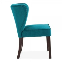 Teal Velvet Upholstered Chancery Dining Chair | Modern ...