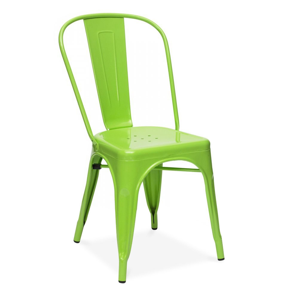 Lime Green Powder Coated Tolix Style Industrial Side Chair